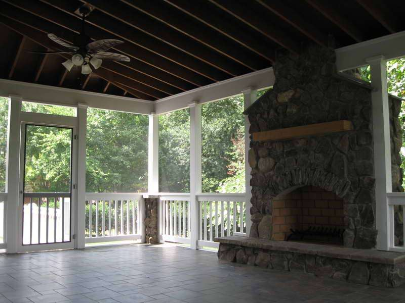 Outdoor Patio Designs Screened Porch Cost Screen