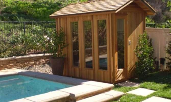 Outdoor Saunas Here Cool Poolside Saun