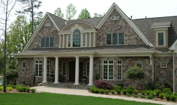Outdoor Stone Veneer Houses Window