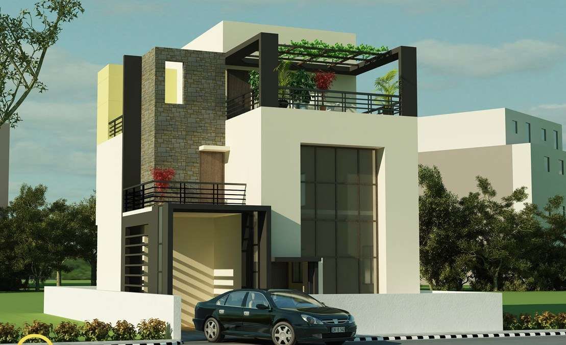 Lovely ... Simple Exterior House Designs In Kerala