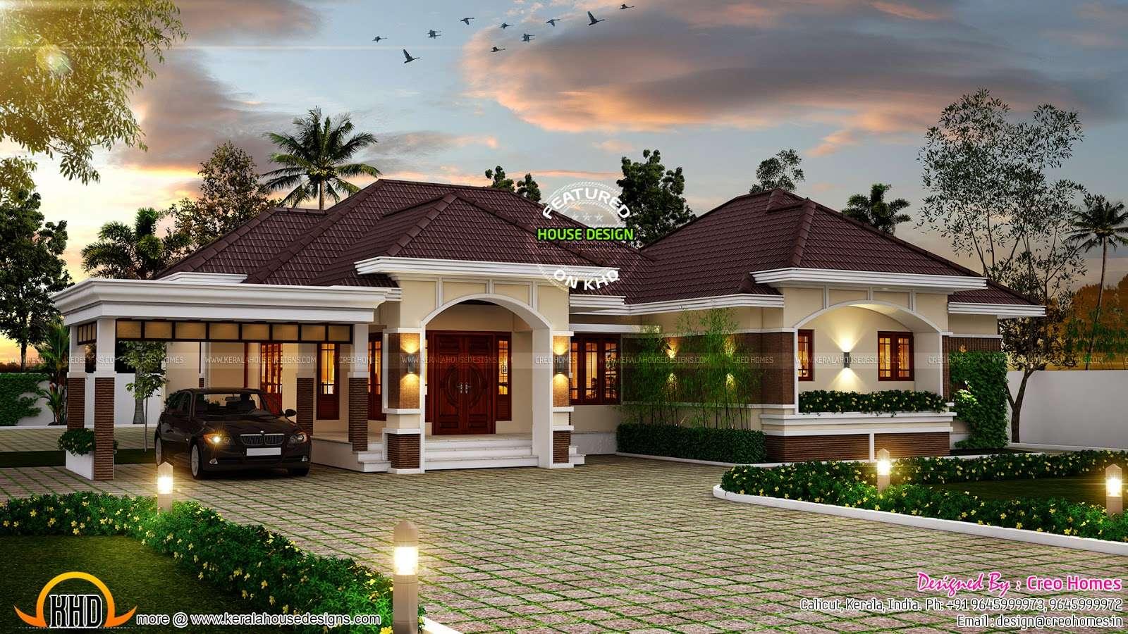 Outstanding Bungalow Kerala Home Design