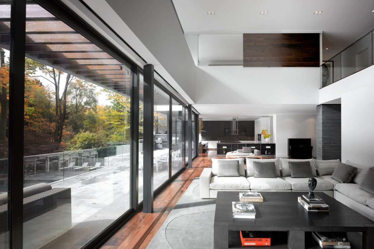 Patio Doors Open Plan Living Impressive Modern Home Toronto