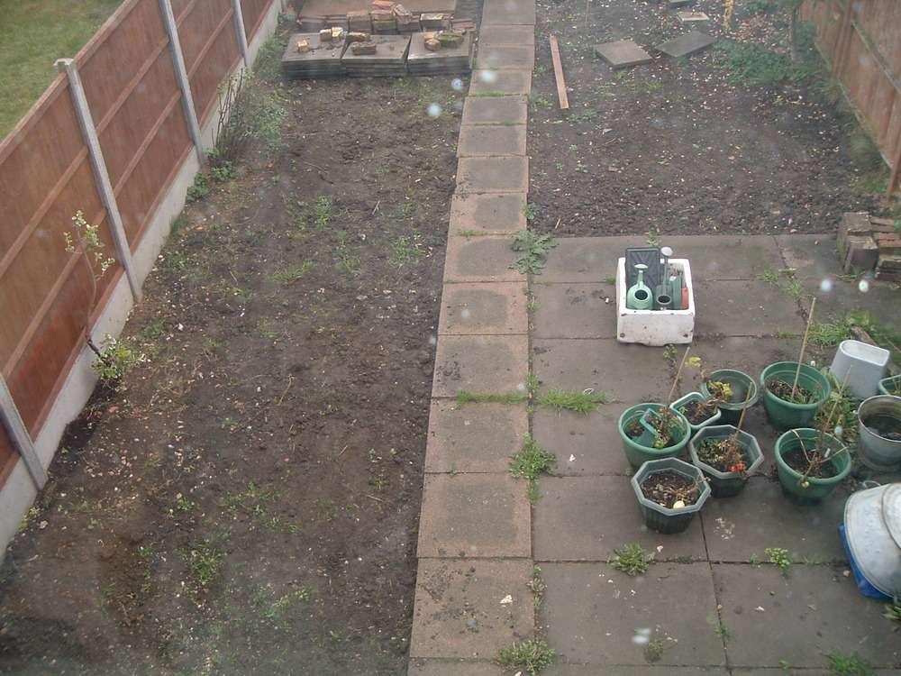 Patio Slabs Drain Cover Garden Landscape Gardening Job