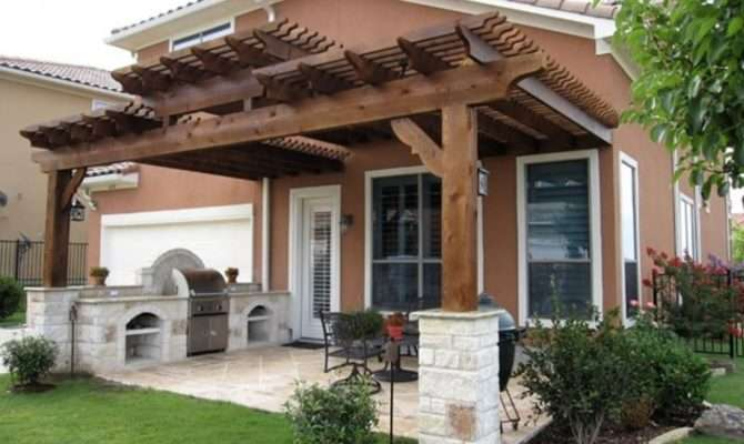 Patio Structures Ideas Wood Cover Backyard