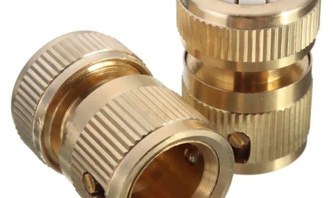 Pcs Brass Water Hose Pipe Fitting Set Connector Tap
