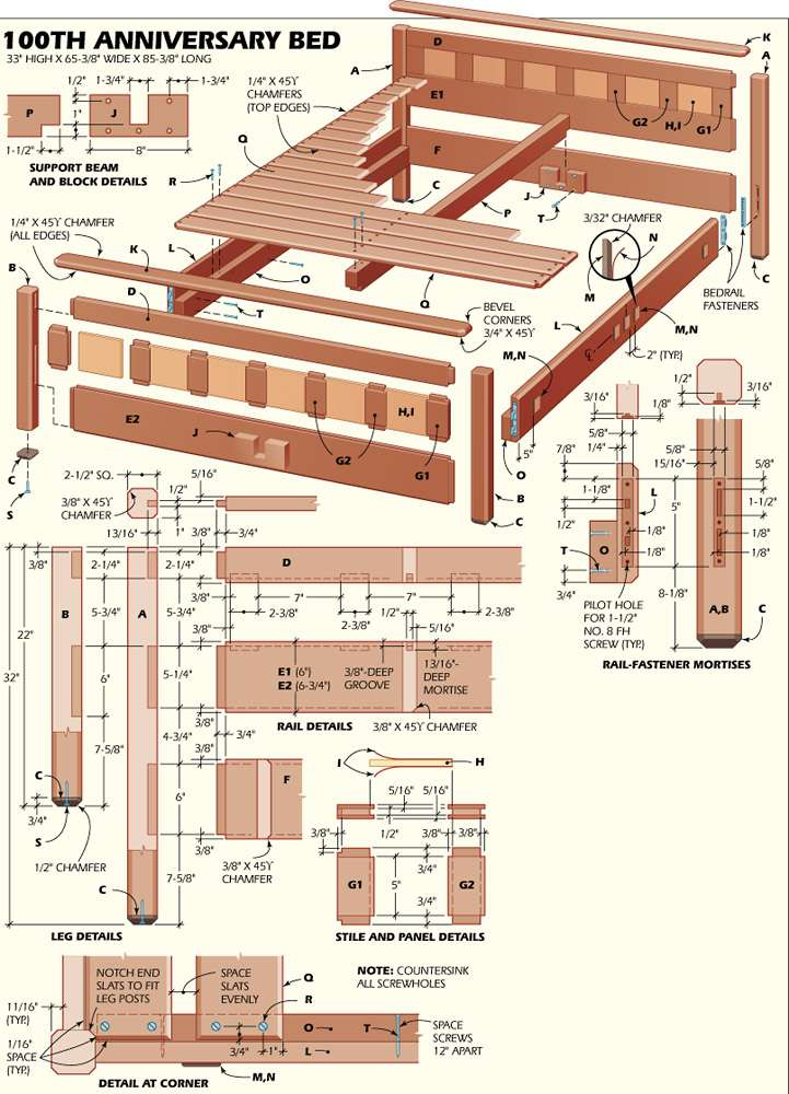 Pdf Plans Woodworking Bed Frame Diy