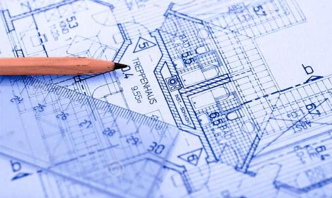 Pencil Blueprint Sketch