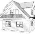 Pencil Drawings Small Log Cabins Joy Studio Design Best