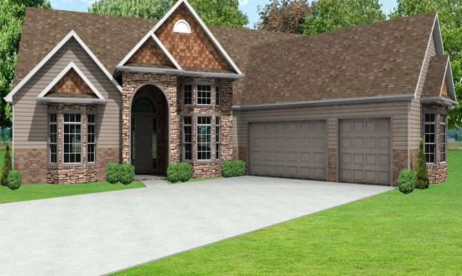 Perfect Ranch House Plans Car Garage Design