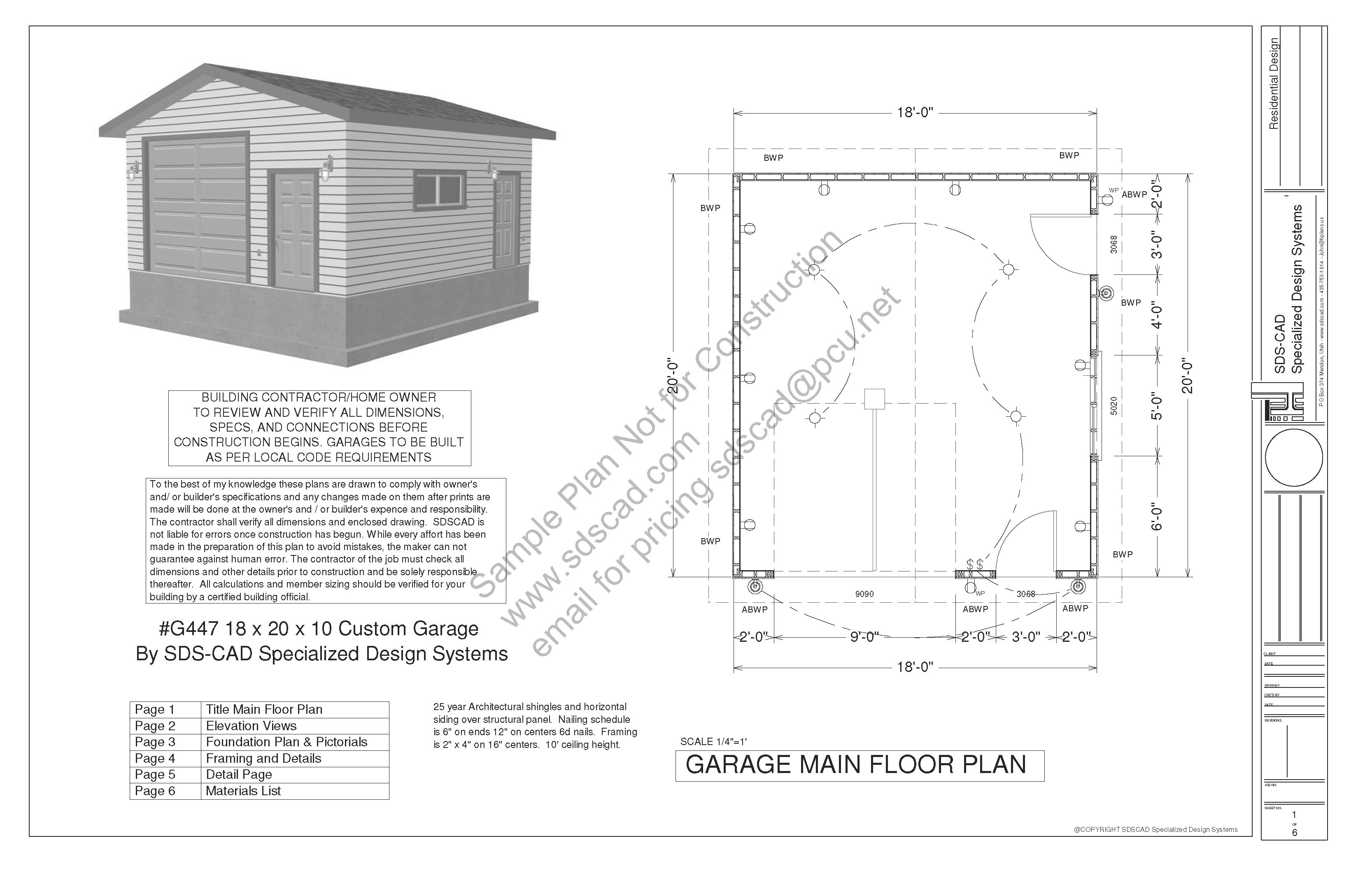 Photos Garage Blueprints Plans