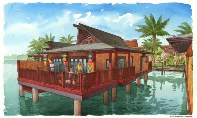 Photos New Disney Polynesian Villas Bungalows Artwork Revealed