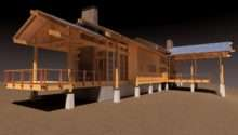 Phx Architecture Conceptual Design Mountain Cabin