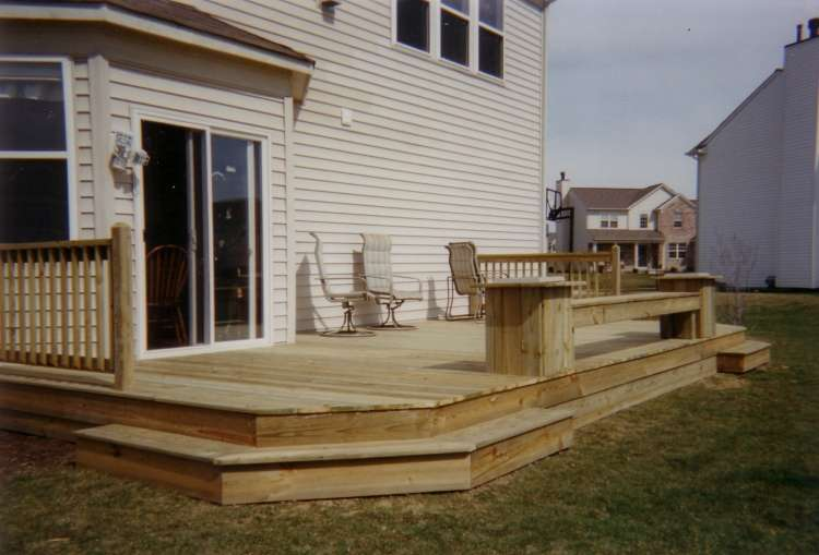 Pics Photos Deck Plans One Level Decks Wide Stairs