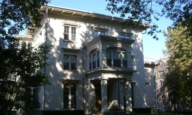 Picturesque Style Italianate Architecture Two Hillhouse Cubes