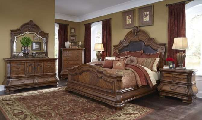 Piece Aico Tuscano Melange Mansion Bedroom Set