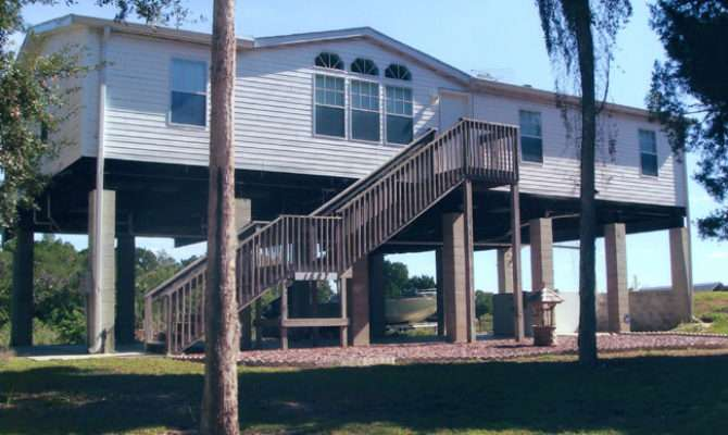 Piling Pier Stilt Foundation Home Plans Coastal Flood Plain