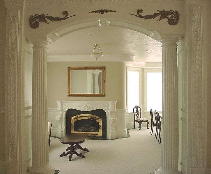 pillar column supporting arch home pinterest - Decorative Pillars For Homes