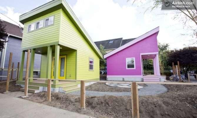 Pink Tiny Home Portland House Pins