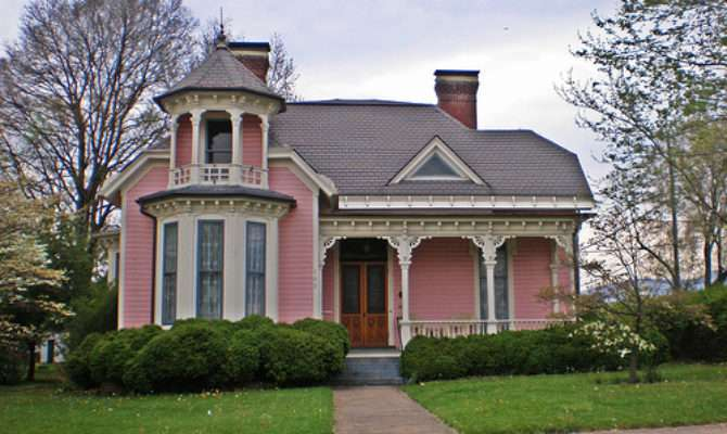Pink Victorian House Omaha Door Window