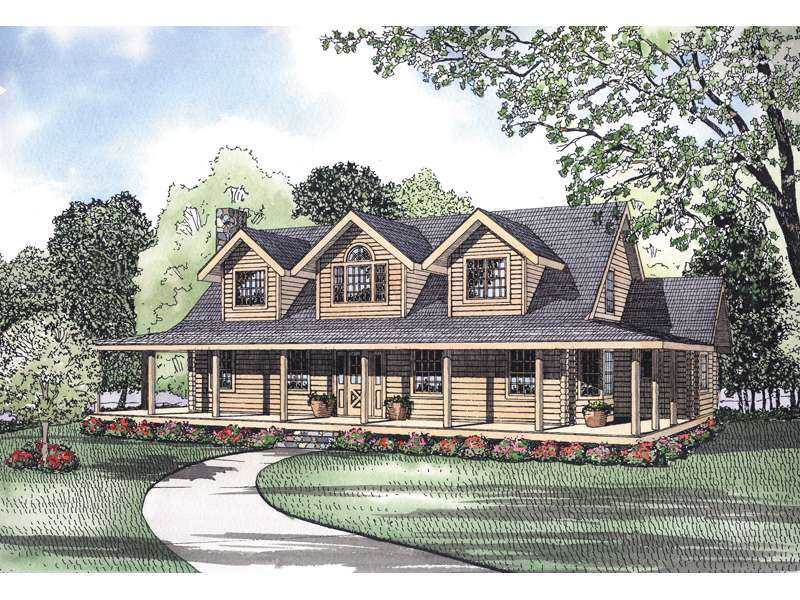 Pioneer Park Rustic Log Home Plan House Plans