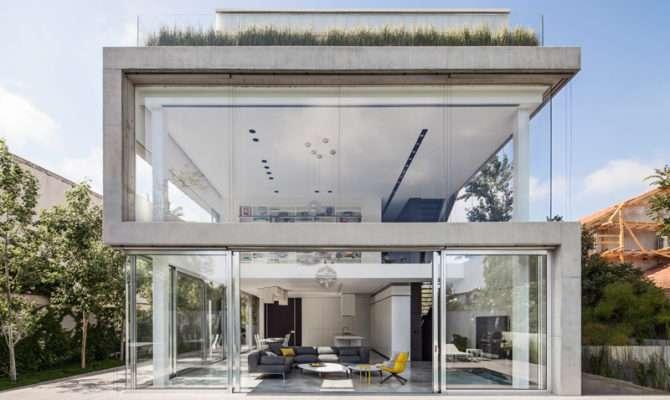 Pitsou Kedem Design Home Concrete Glass