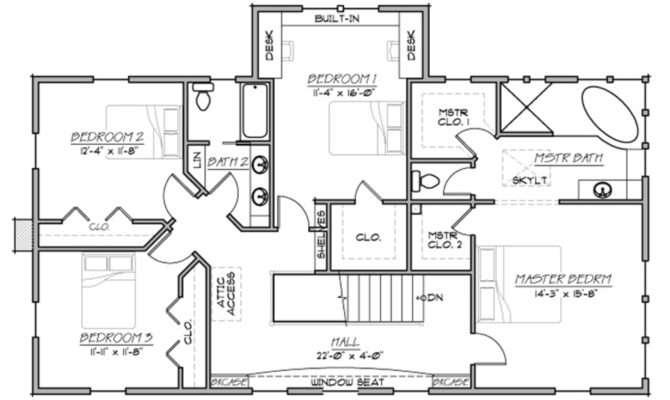 Plan Beds Baths Floor Upper