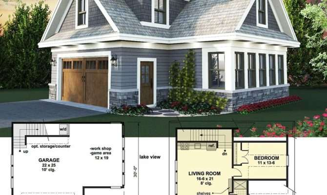 Plan Carriage House Man Cave Potential