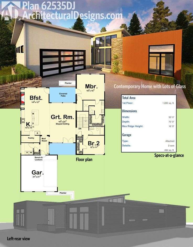 Plan Contemporary Home Lots Glass