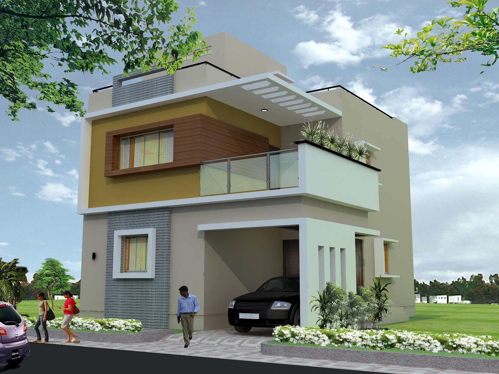 Plan Duplex House Joy Studio Design