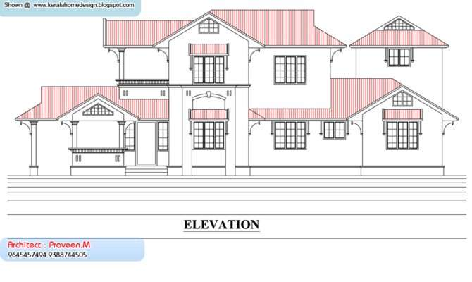 Plan Elevation Kerala Home Design Floor Plans
