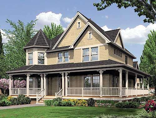 Plan Fabulous Wrap Around Porch Architectural