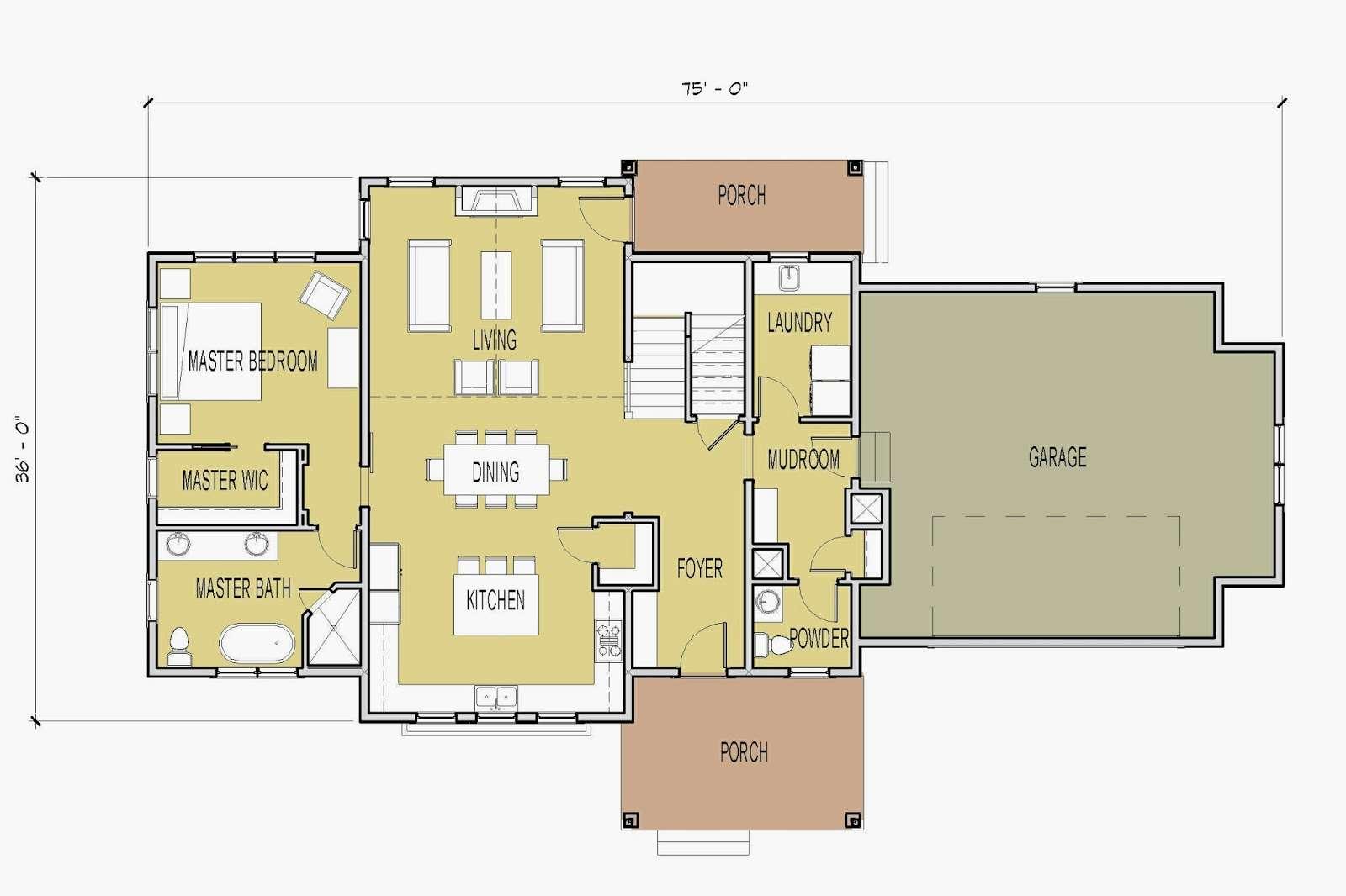 Plan Features Vaulted Living Room Main Floor Master Suite