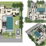 Plan Land Area Information Layout Villa
