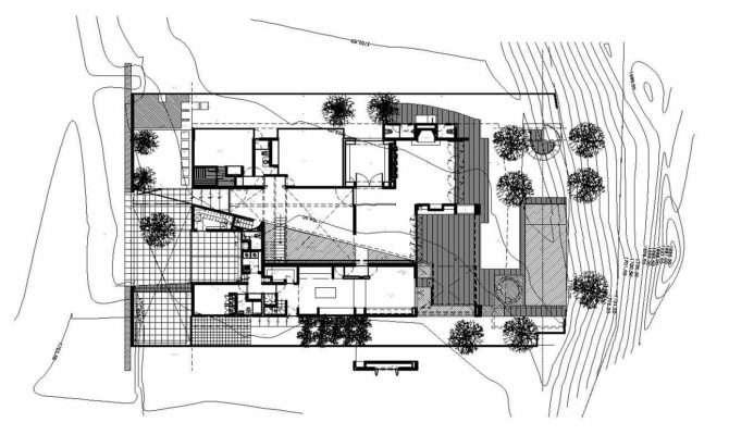 Plan Modern Home Zapopan Mexico