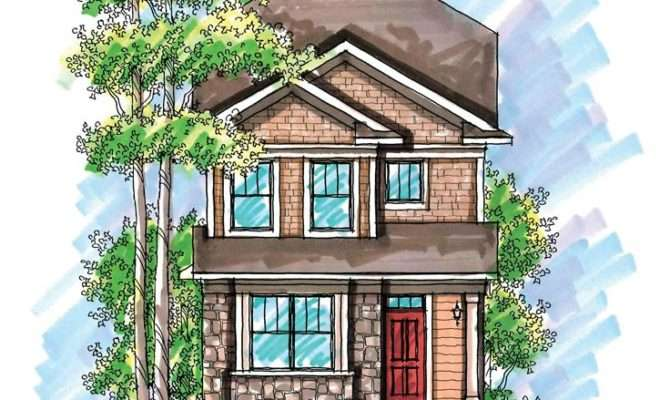 Plan Narrow Lot Townhouse Floor Plans House