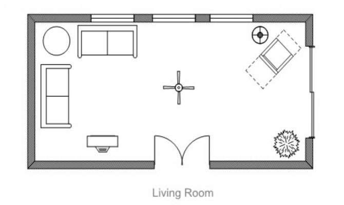 Plan Room Living Floor Symbols