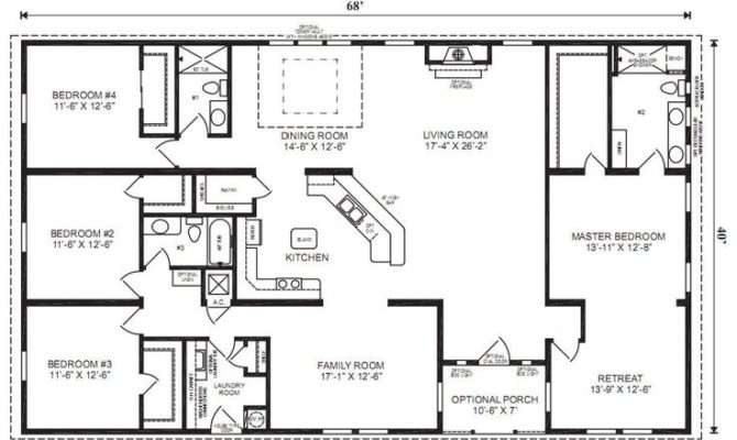 Plan Simple Bedroom House Ranch