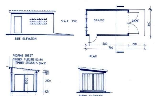 Plan Single Car Garage