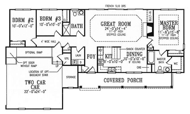 Plan Split Bedroom Ranch Fully Accessible
