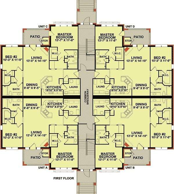 Plan Story Unit Apartment Building