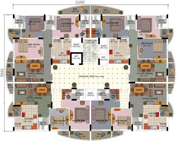 Plan Typical Floor Villa Plans