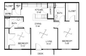Plan Unfurnished Bedroom Meadowbrook Lawrence Kansas
