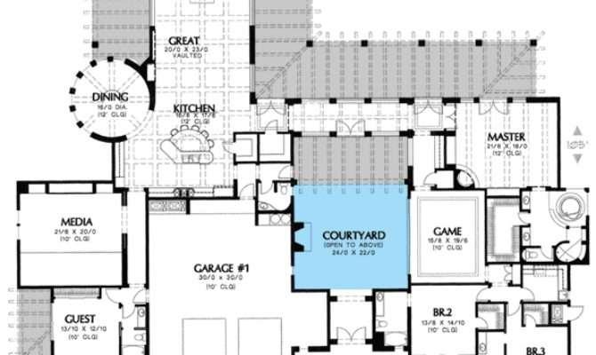 Plan Unique Courtyard Home