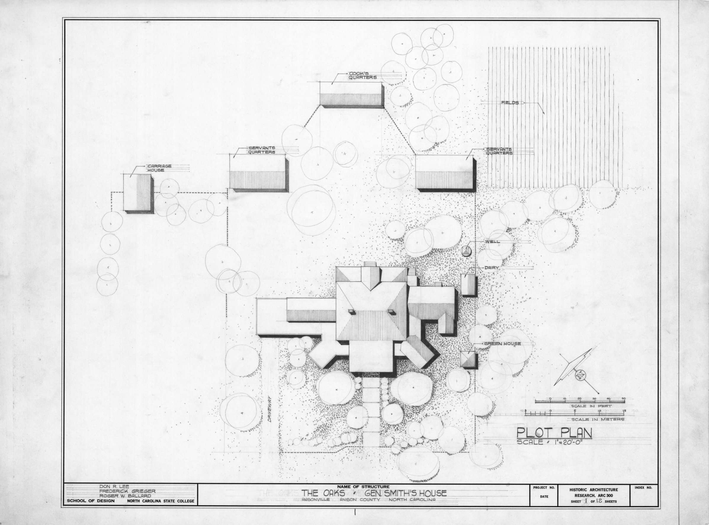 Plan William Smith House Ansonville North Carolina