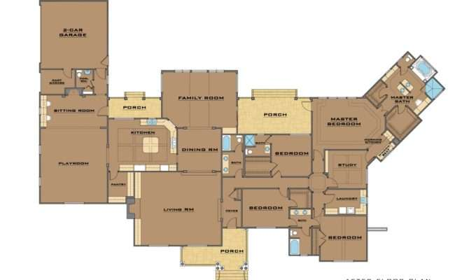 Plans Addition Single Story House Master Suites