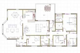 Plans Beach House Floor Contemporary