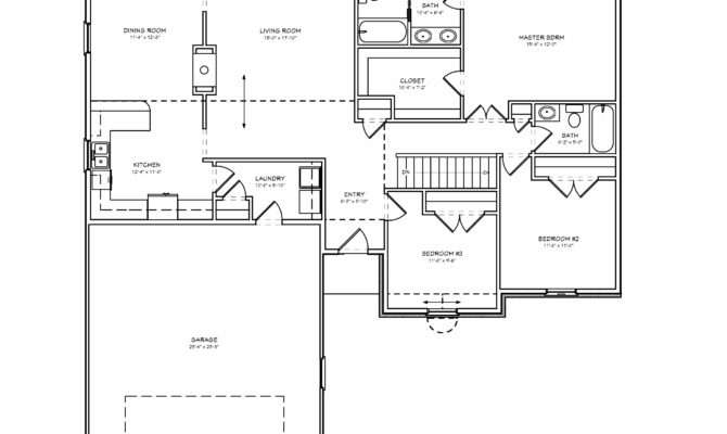 Plans Bedroom House Floor Ranch Plan Three