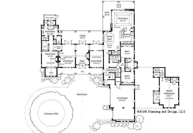 Plans Courtyards Italian House Floor