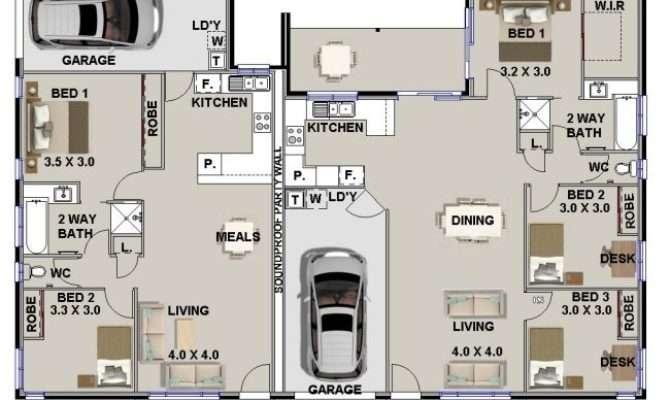 Plans Duplex Corner Lot Australian Bedroom Designs