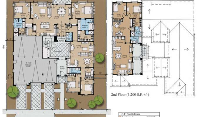 Plans Home Designs Architecturaldesigns Spanish Plan